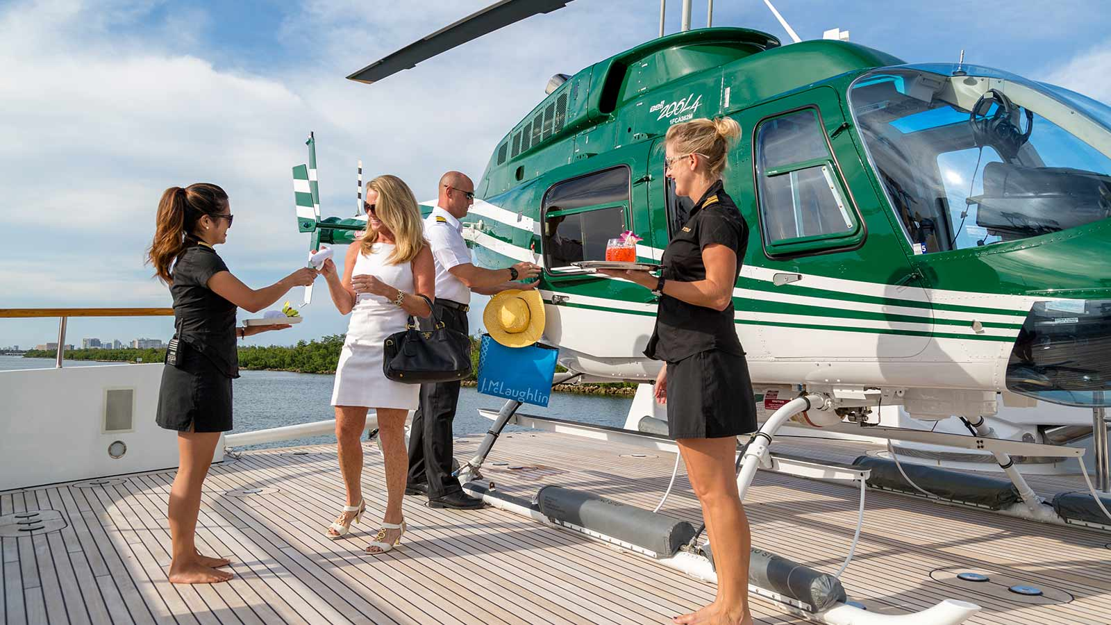 superyacht crew feadship helicopter gravitas