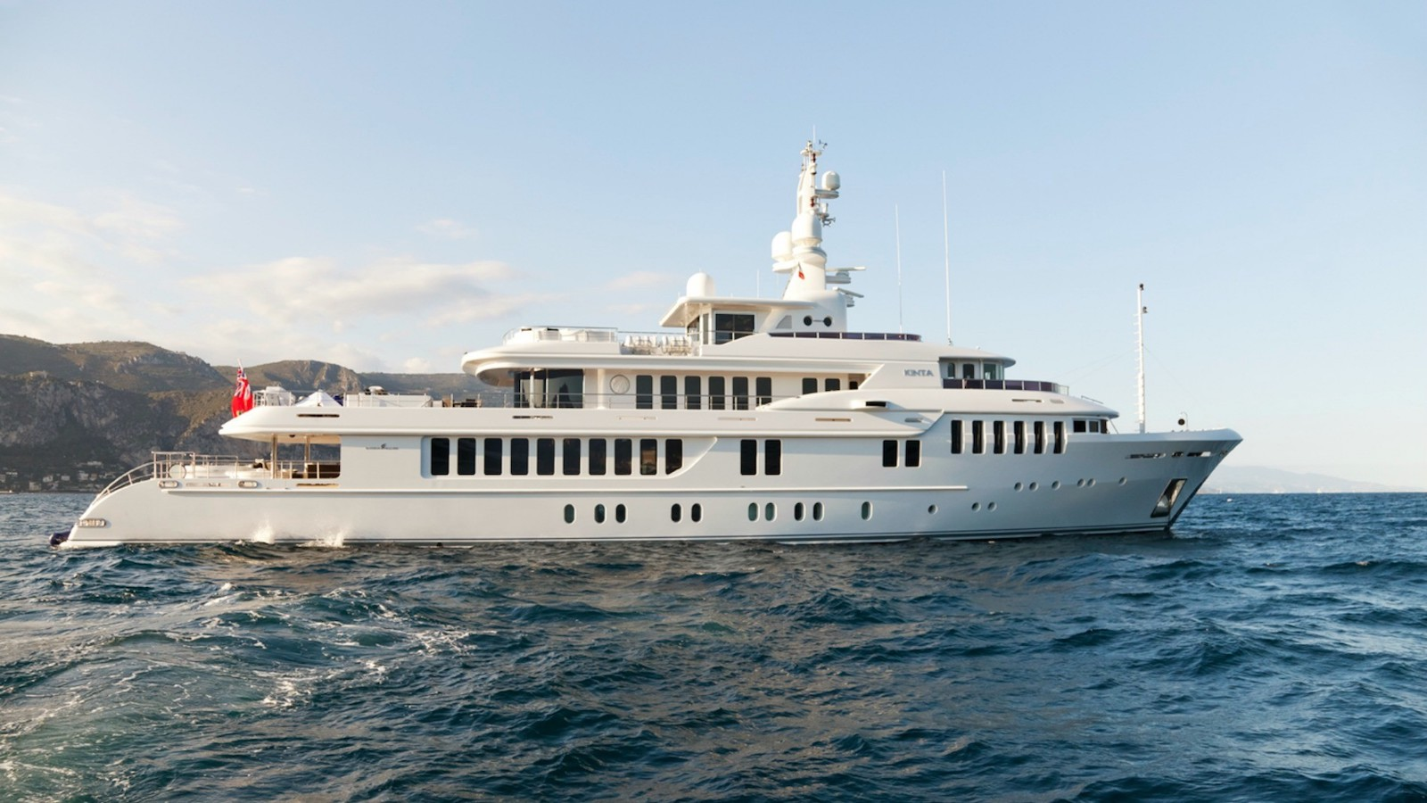 Kinta Superyacht for Sale cruising profile