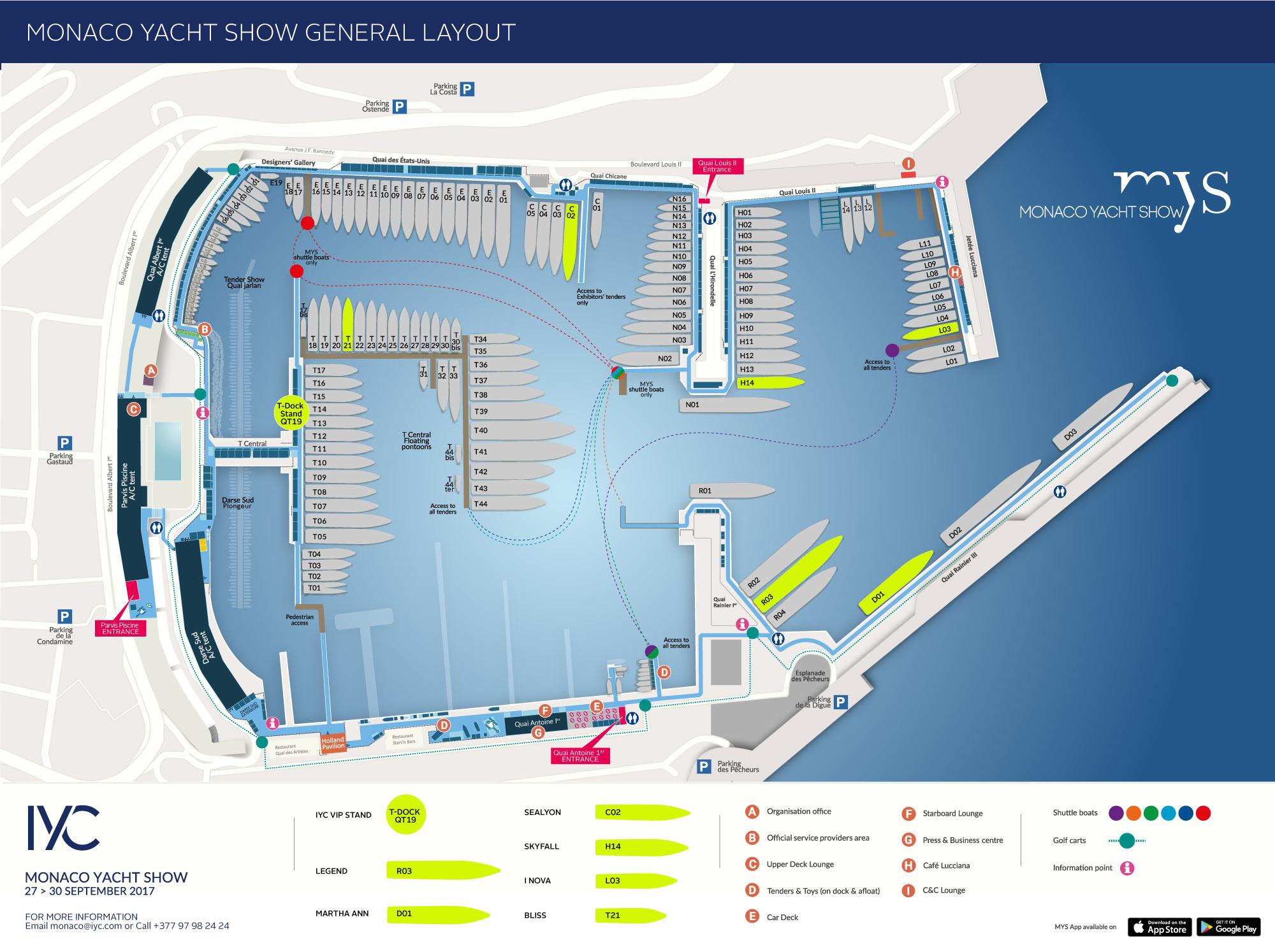 Monaco Yacht Show Map